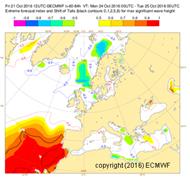 Análise de uma situação de agitação marítima forte nos dias 22, 23 e 24 de outubro de 2016 usando produto EFI-SOT