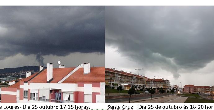 Episódio de tempo severo no Algarve e Baixo Alentejo nos dias 24 e 25 de outubro de 2016