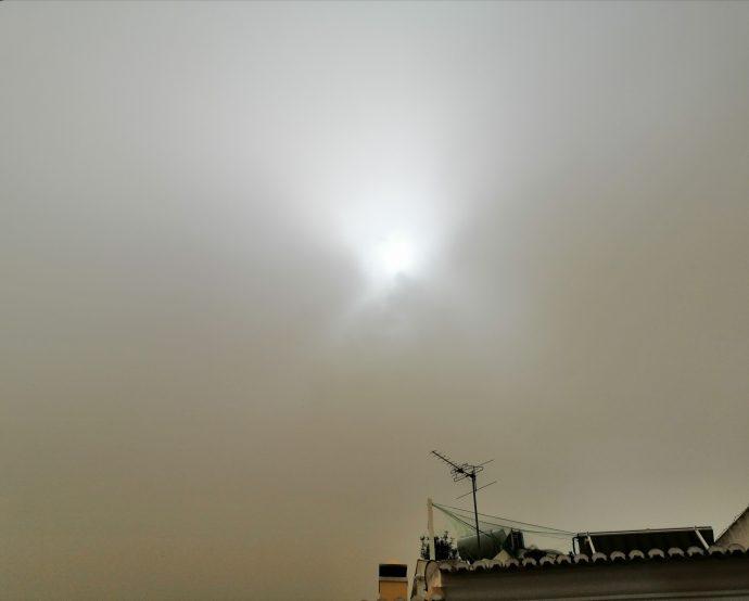 Nuvens de poeiras vindas do Norte de África