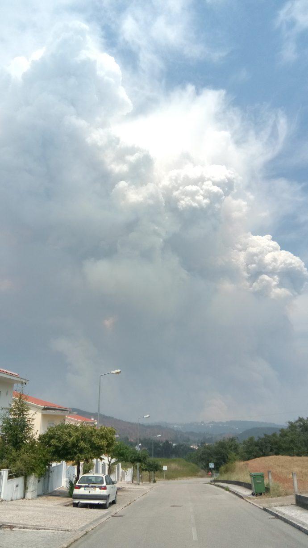 Pirocúmulo, grande Incêndio de Pedrogão Grande